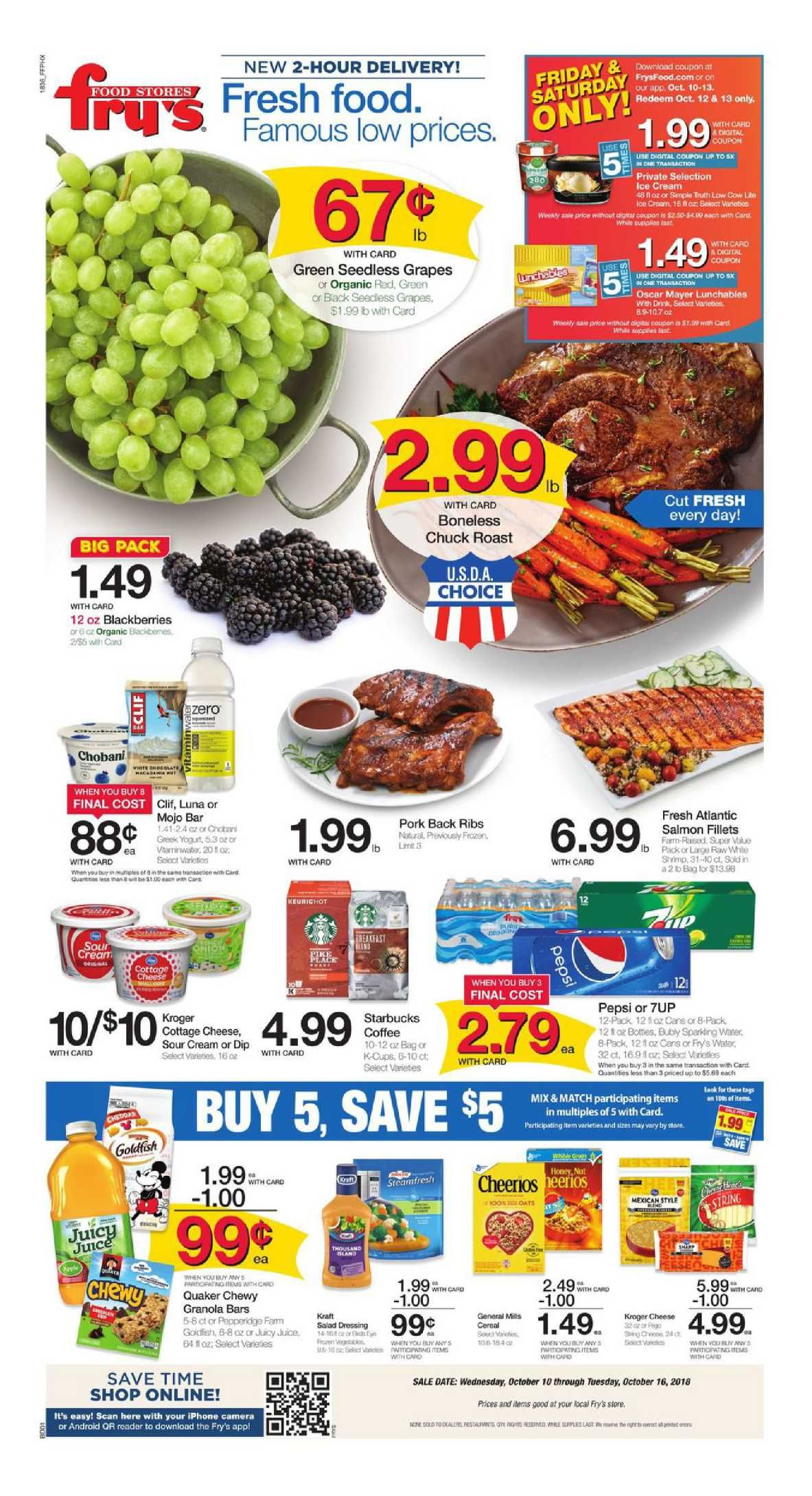 Frys Food Weekly Ad Flyer January 9 15 2019 Weekly Ad