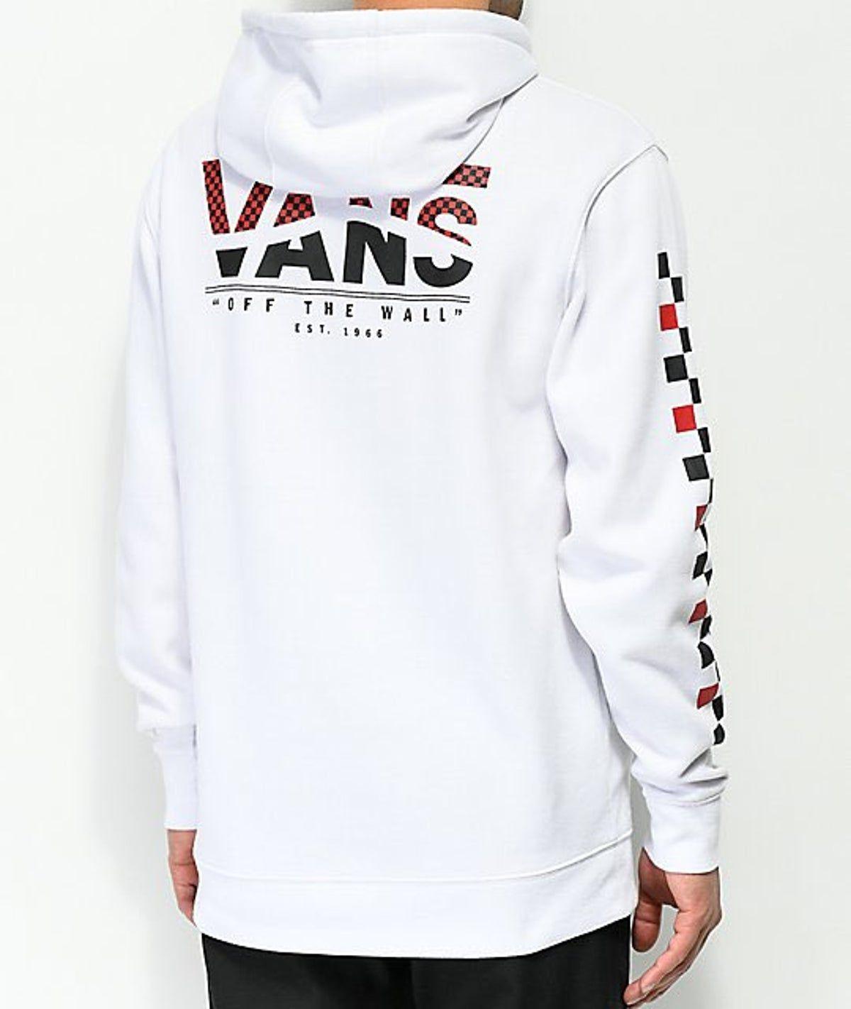 Pin By Kellee Lunn On Trendy Atmosphere White Hoodie Hoodie Zumiez Red And Black Vans [ 1422 x 1200 Pixel ]