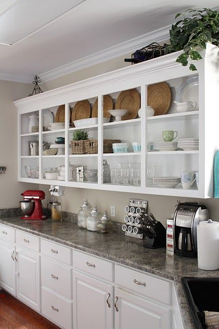 Amazing Could I Ever Be Organized Enough For Open Kitchen Cabinets?