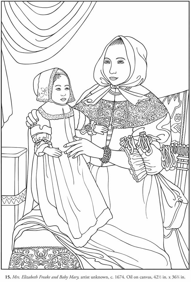 Color Your Own American Folk Art Paintings Dover ...