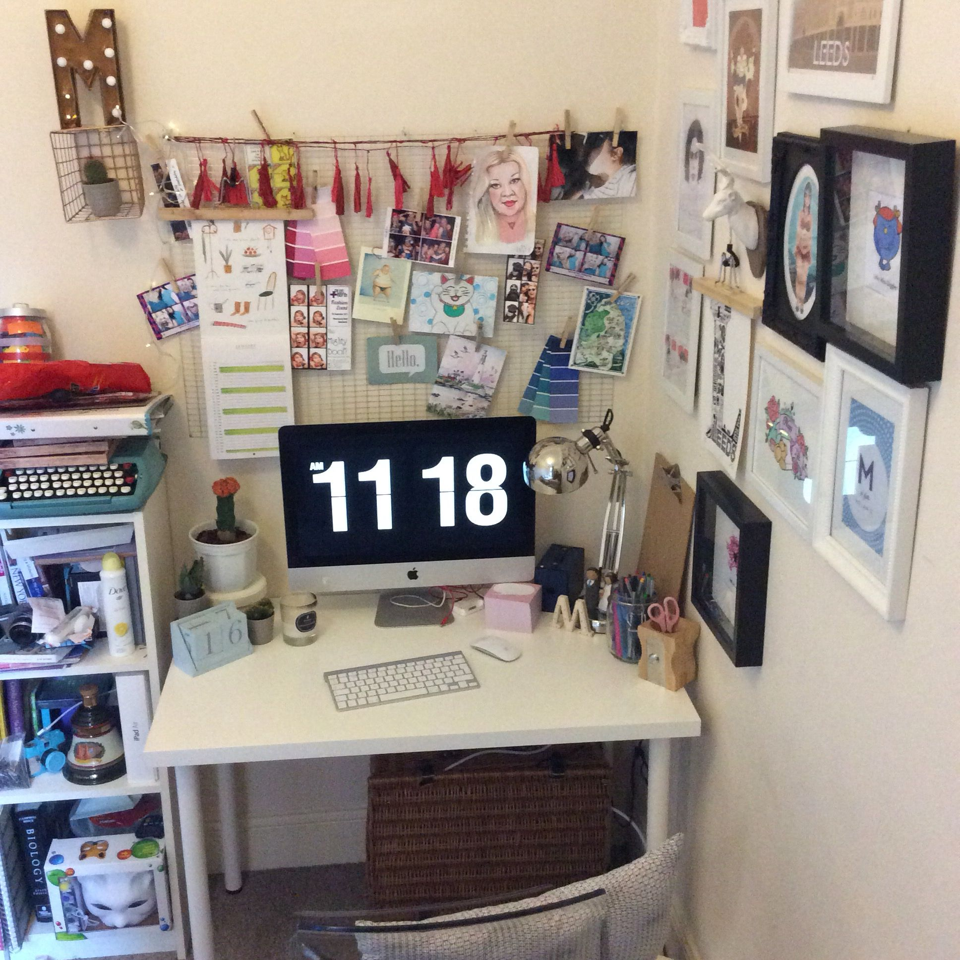office pinboard. My Study Space/home Office With DIY Pinboard And Gallery Wall. A
