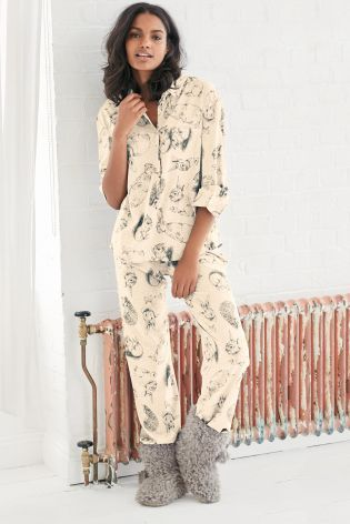 b9a95087c5 Buy Oatmeal Cosy Bunny Print Pyjamas from the Next UK online shop ...