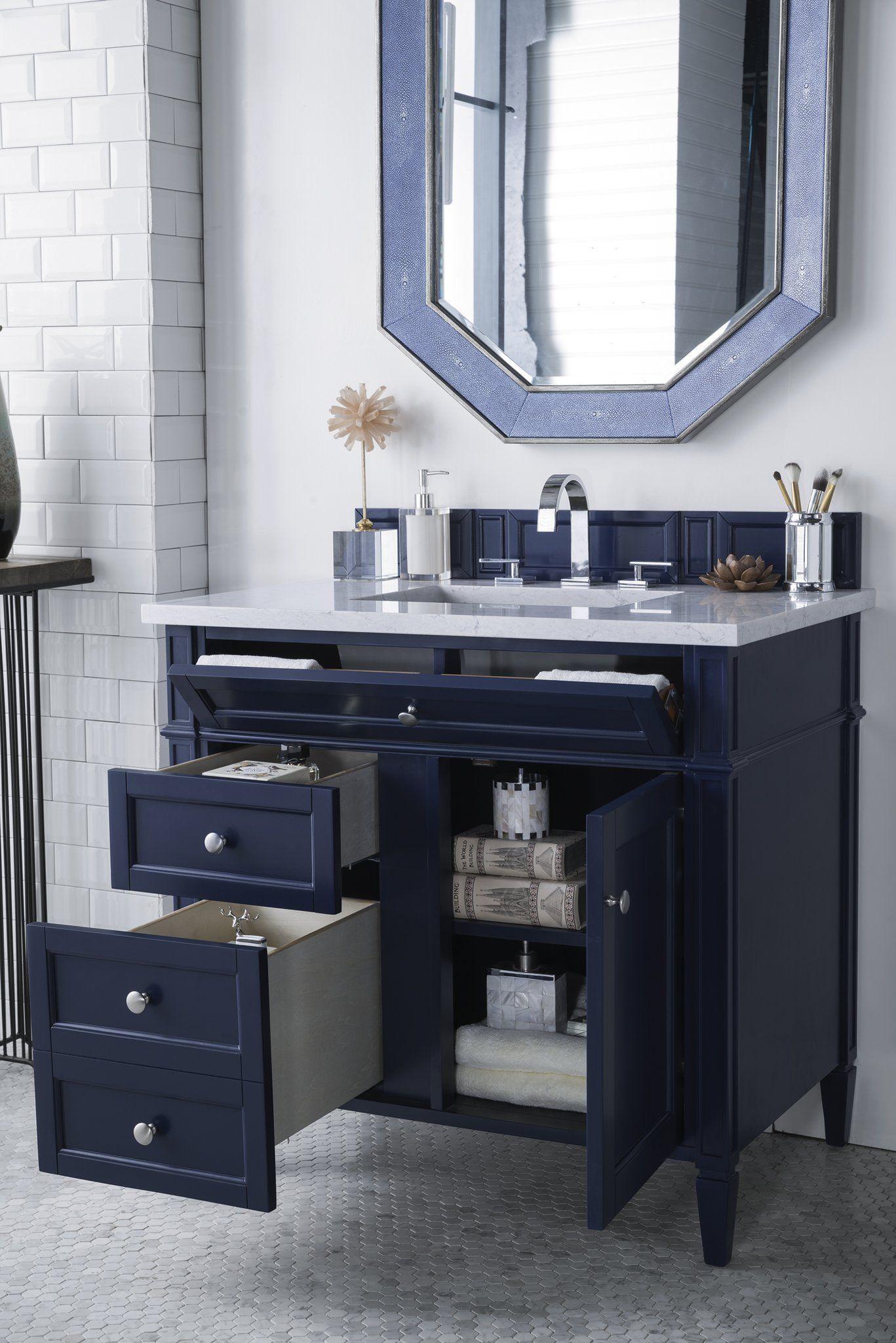 "Brittany 36"" Single Vanity, Victory Blue | Single bathroom ..."
