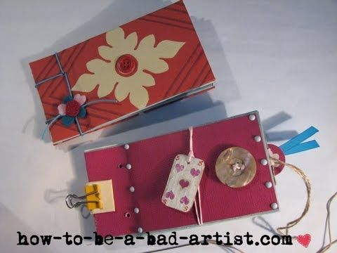 Bookbinding: How to bind mini album with string.