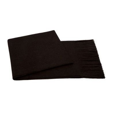 Cashmere Collection Baby Aplaca Wool Throw Color: Chocolate