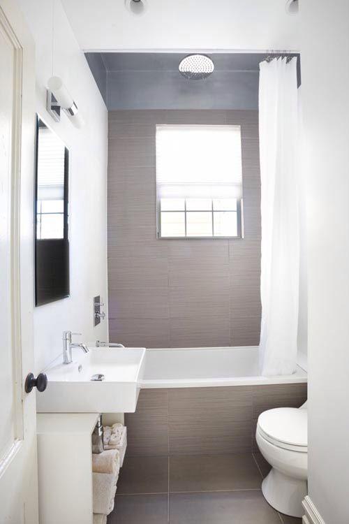Ook in een kleine badkamer kun je best een ligbad, regendouche ...