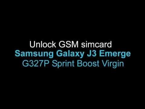 Unlock Samsung Galaxy J3 Emerge J327P Sprint Boost Virgin | Simcard