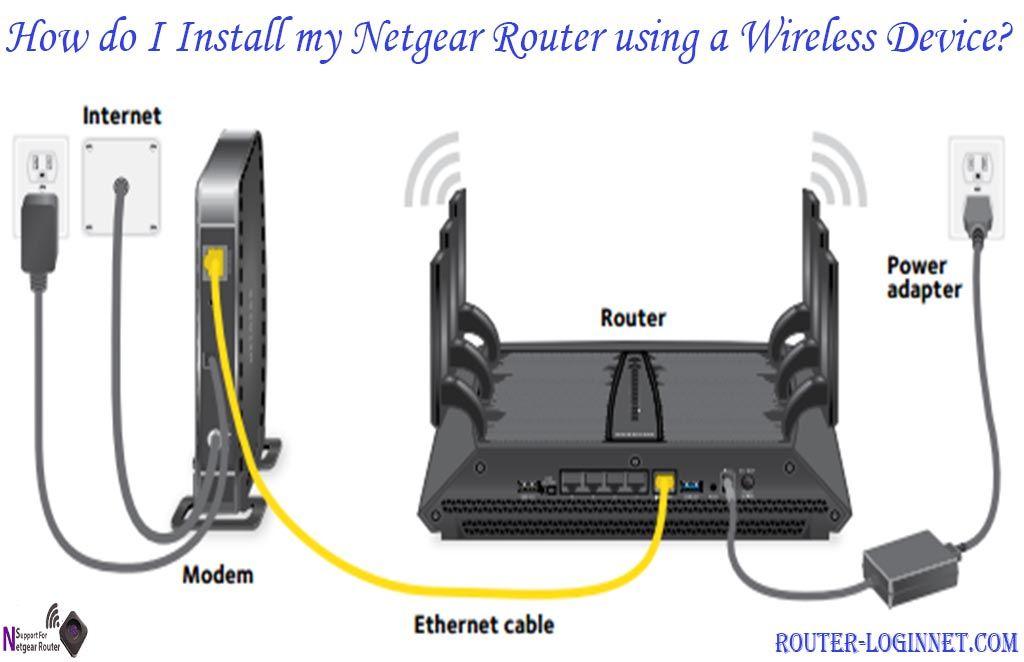 How do I install my NETGEAR router using a wireless device