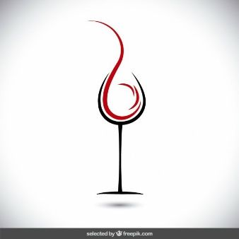 Abstract glass of wine logo