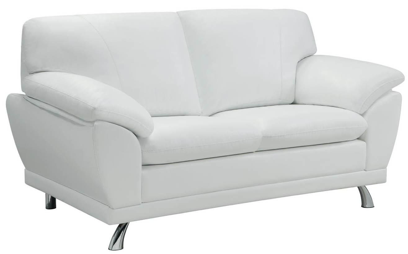 Best Amazon Com Coaster Home Furnishings Contemporary Loveseat Chrome White Sofas Contemporary 400 x 300