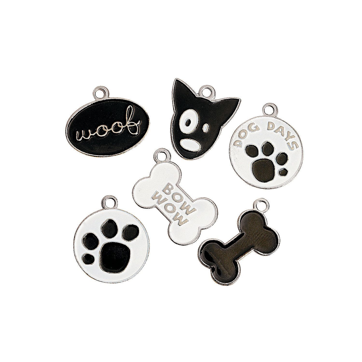 For spa package incentives. Enamel Dog Charms