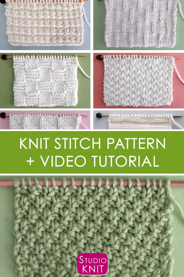 Photo of Irish Moss Stitch Knitting Pattern