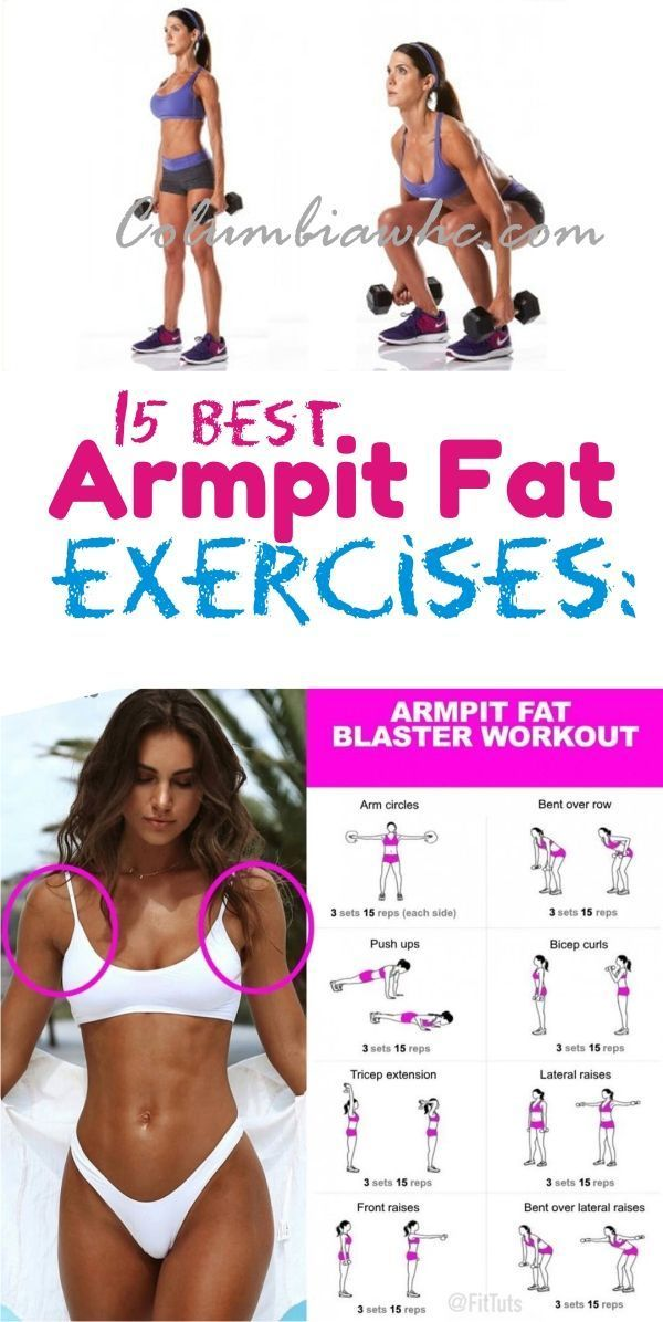 How To Get Rid Of Armpit Fat: 15 Best Underarm fat Blaster Exercises that really works. #fatloss #brabulgexercises #fatworkouts