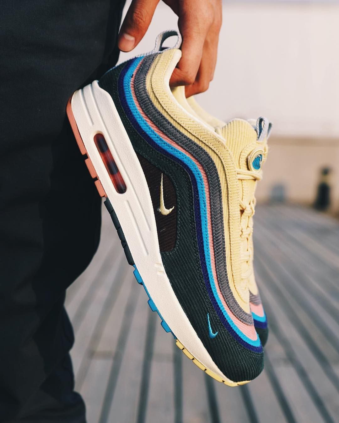 "3e73ab6c4d Nice Kicks (@nicekicks) on Instagram: "" Sean Wotherspoon x Nike Air Max  97/1⠀ March 26, 2018 ❓ Are you going to go after these when…"""