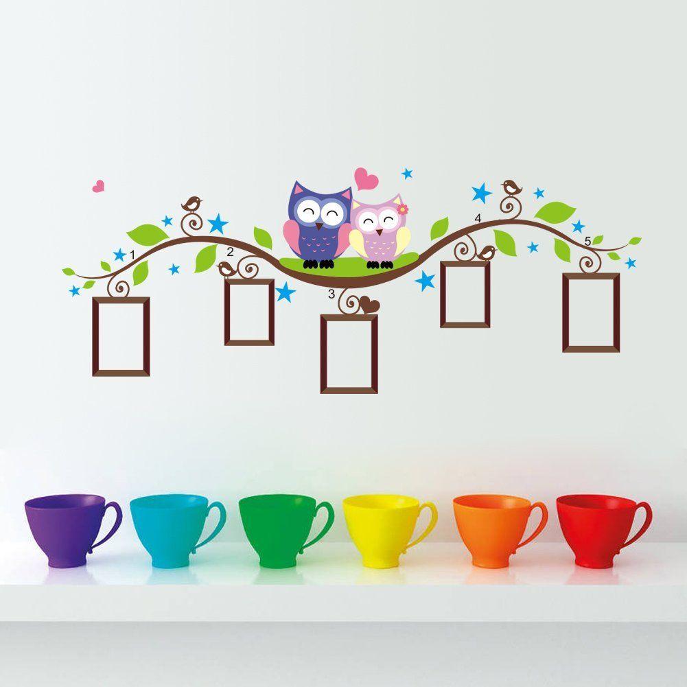 Pegatina de pared vinilo adhesivo decorativo con marcos de for Pegatinas para dormitorios