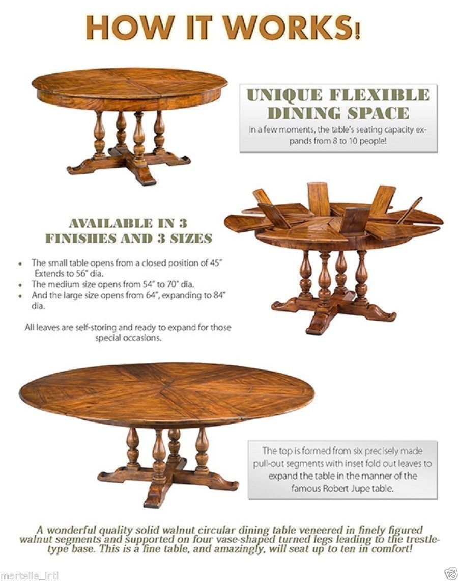 Walnut Dining Table Round Extends To 70 From 54 Closed Handmade