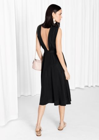 Other Stories Cross Front Dress Black Cross Front Dress Black Dress Black Dresses Classy