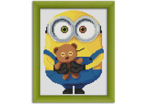 Pdf Cross Stitch Pattern Minion Bob Instant Download