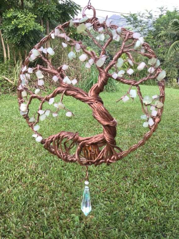 Tree Of Life Suncatcher Crystal Suncatcher Copper Wire Sculpture Rh  Pinterest Com Fox Garden Sculpture Wire