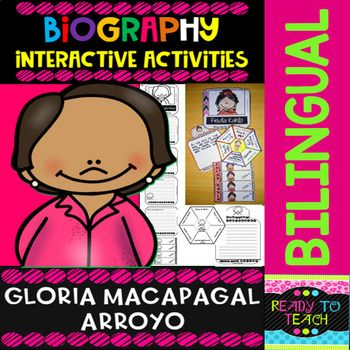ENGLISH VERSIONYou will find a set of 4 different tasks to work on the biographies of Gloria Macapagal Arroyo. There are 4 interactive activities to be done:Interactive Task 1: Students have to search facts about the biography of this famous person and write those facts related to his/her early and...