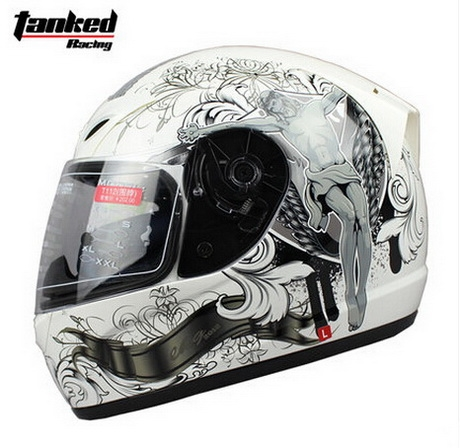 68.60$  Buy now - http://alirsa.shopchina.info/go.php?t=32656073077 - Fashion Tanked Racing Full Face Motorcycle helmet with bib electric bicycle motorbike helmets made of ABS Size M L XL XXL  #bestbuy