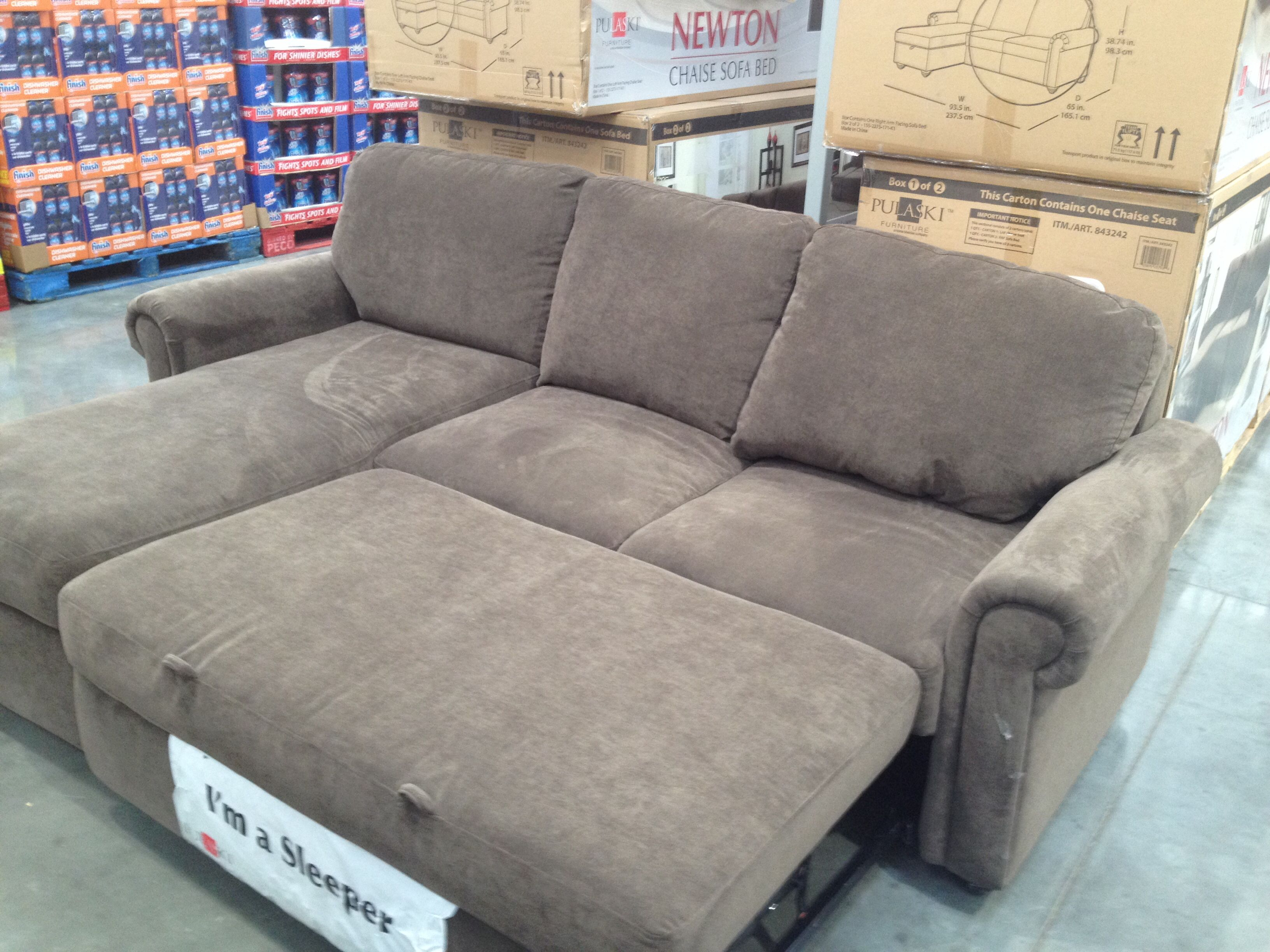 Sofa from Costco. Pull out cushion transforms it into a ...