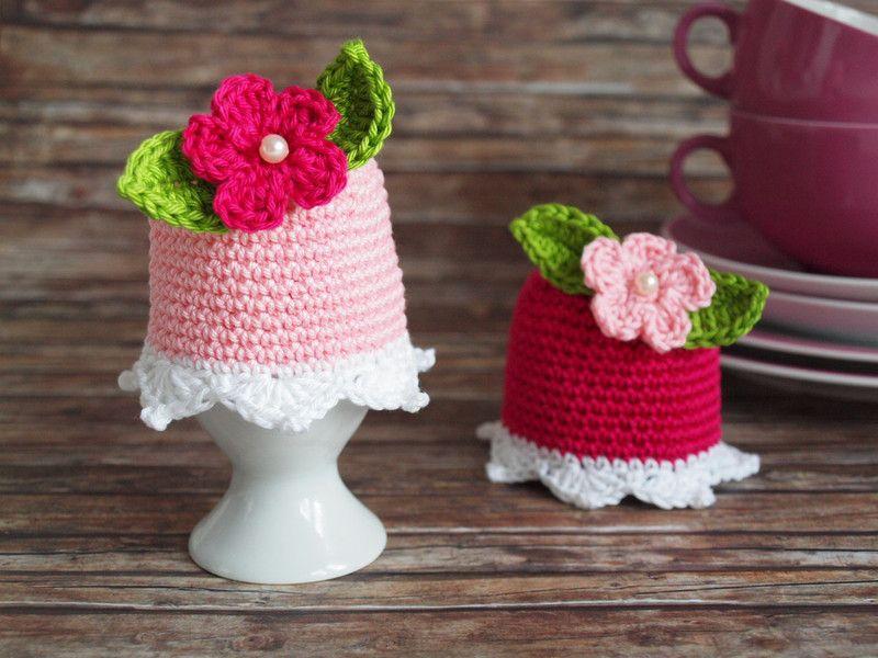 eierw rmer mit blumen h kelanleitung pdf datei von crochet with love auf. Black Bedroom Furniture Sets. Home Design Ideas