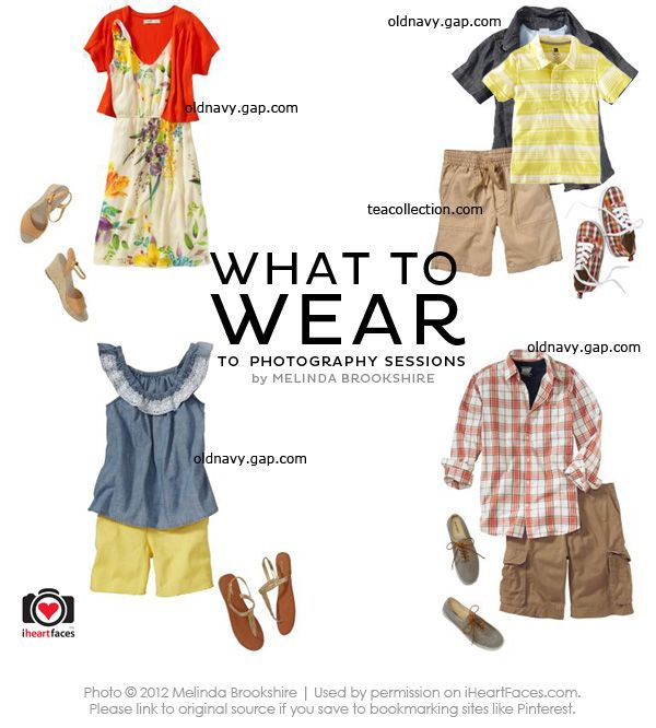 Summer 2012 Stylized Fashion Board for Family Photos