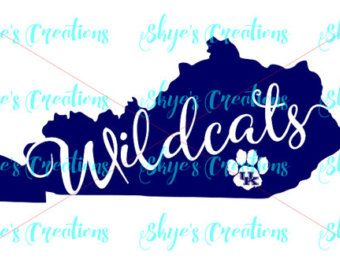 Kentucky Wildcats Svg Ky State Outline Ky Home Ky