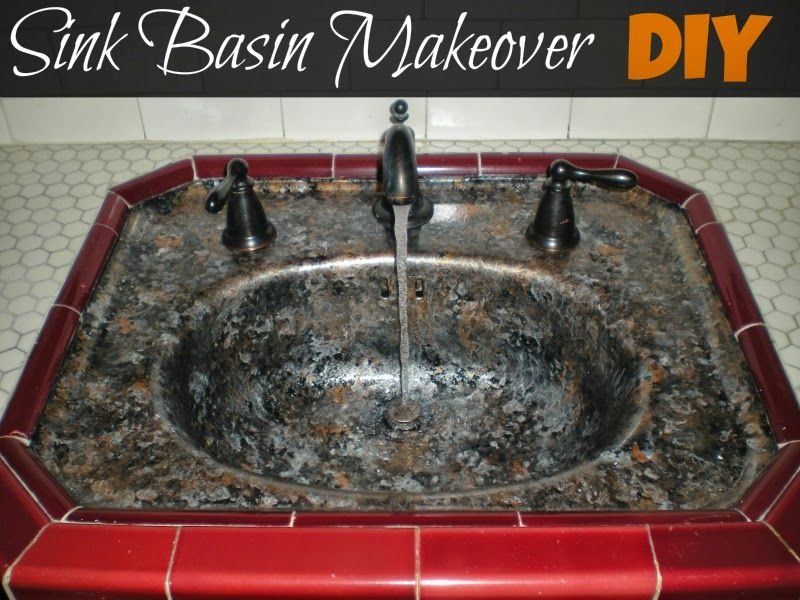 Sink Basin Makeover With Giani Granite Countertop Paint In Bombay Black