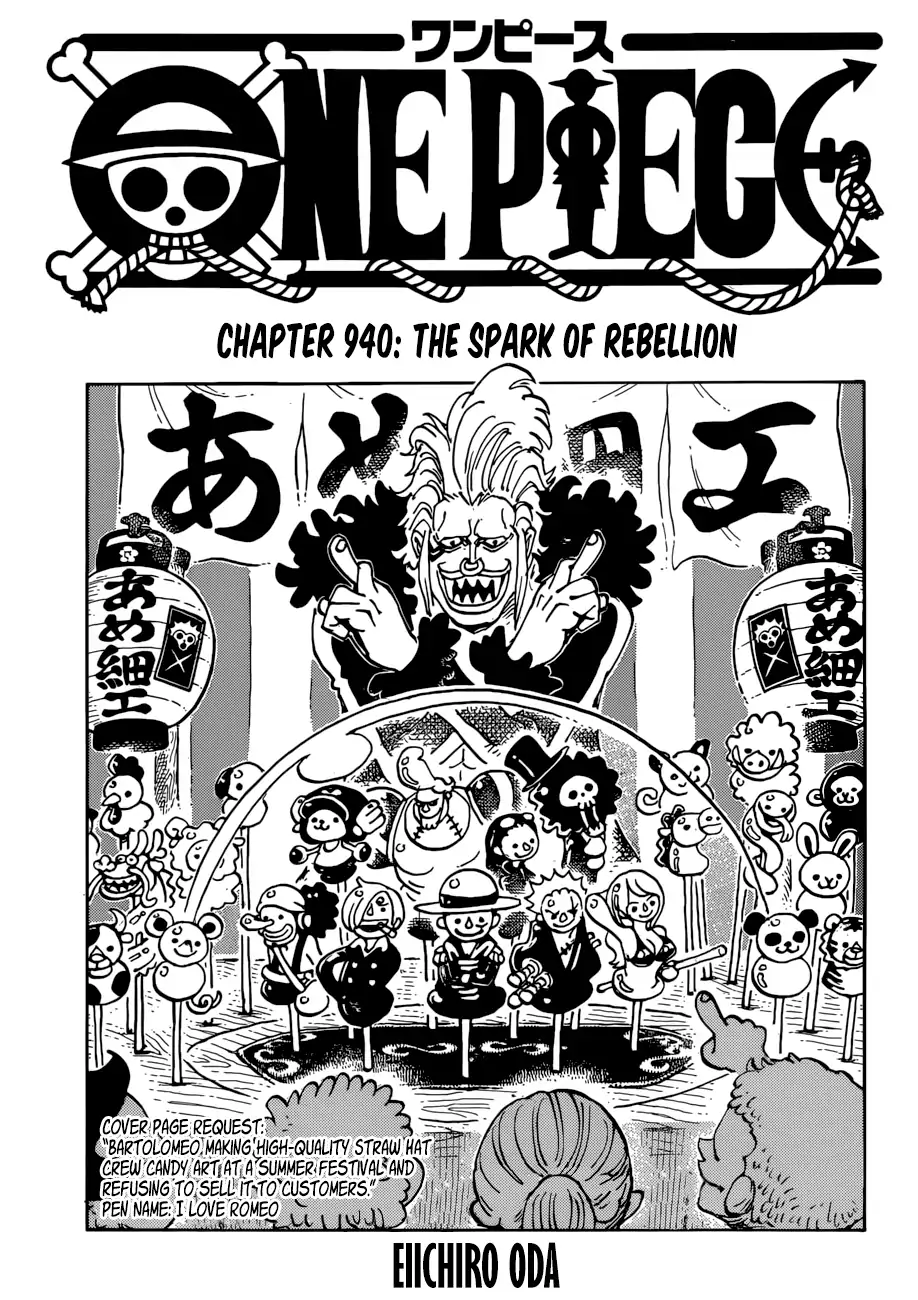 One Piece Vol.TBD Chapter 940: The Spark of Rebellion ...