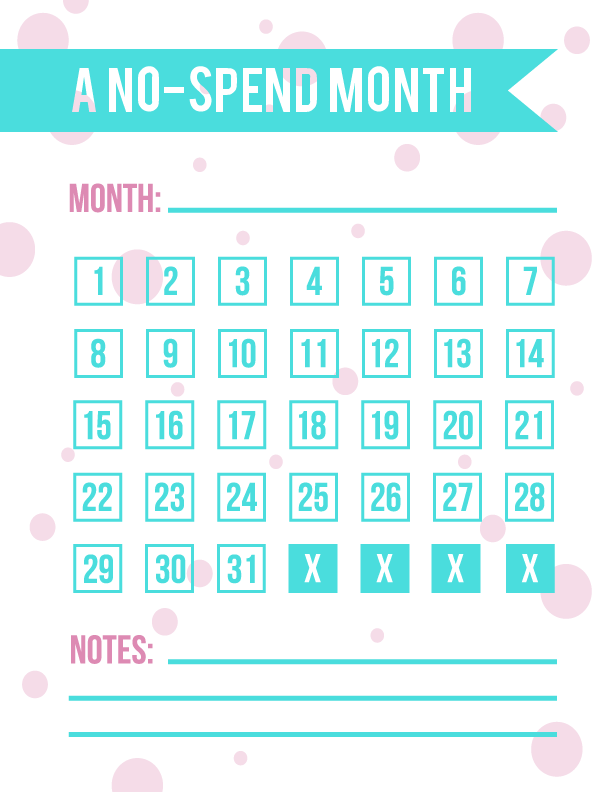 Printable Worksheets rainy day worksheets : Print & enjoy this FREE printable no-spend month calendar--for any ...