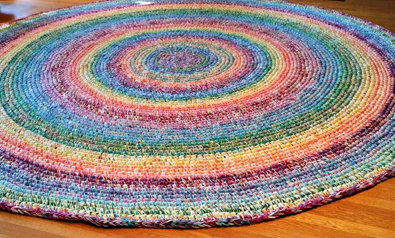This Listing Is For A Six Foot Round Rainbow Rug The Photos Found Above Are Of Nine Custom Made One Our Clients