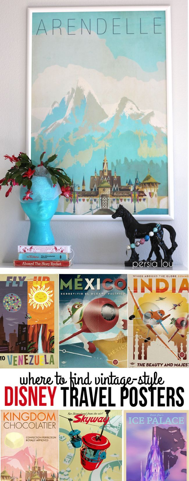 Where to Find Vintage Style Disney Posters is part of Disney home decor - Find out where to find gorgeous vintagestyle Disney posters to decorate your home in style  Some of these awesome prints are even available for free! You can find awesome travel poster style designs for every room in your home!