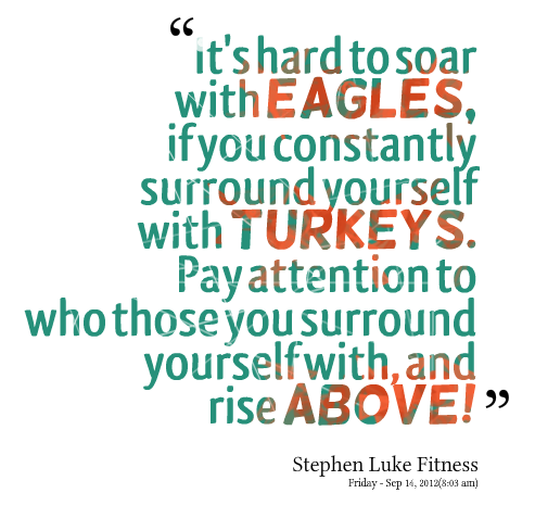 Quotes From Stephen Luke Its Hard To Soar With Eagles If You