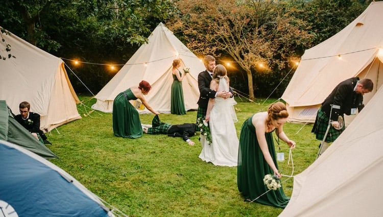 Beautiful relaxed outdoor wedding photography in the