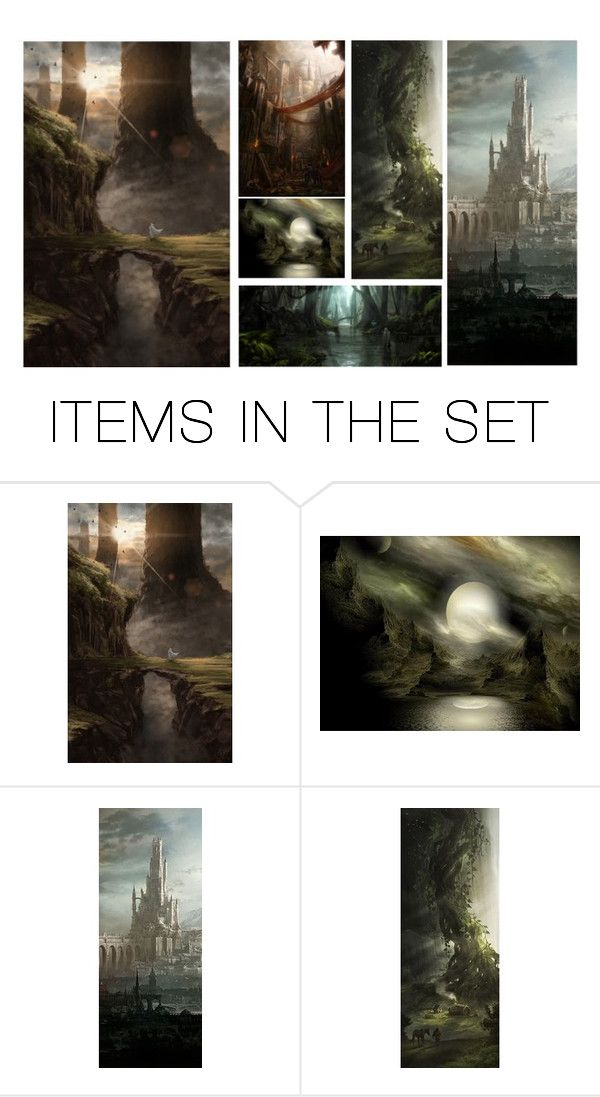 """Fantasy Lands"" by queenrachietemplateaddict ❤ liked on Polyvore featuring art, Collage, fantasy and fantasyart"