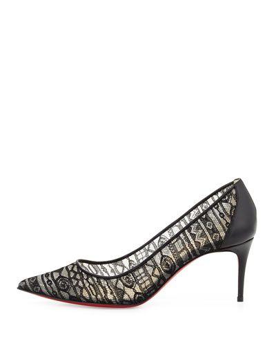 Christian Louboutin Zapato de barco rojo