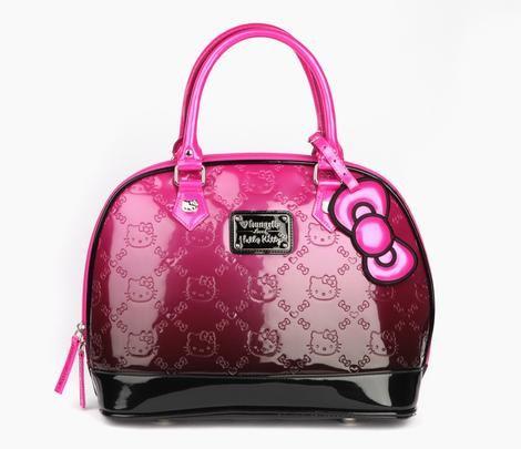 Hello Kitty Vinyl Handbag  Hibiscus Flower  0626355bb8d34