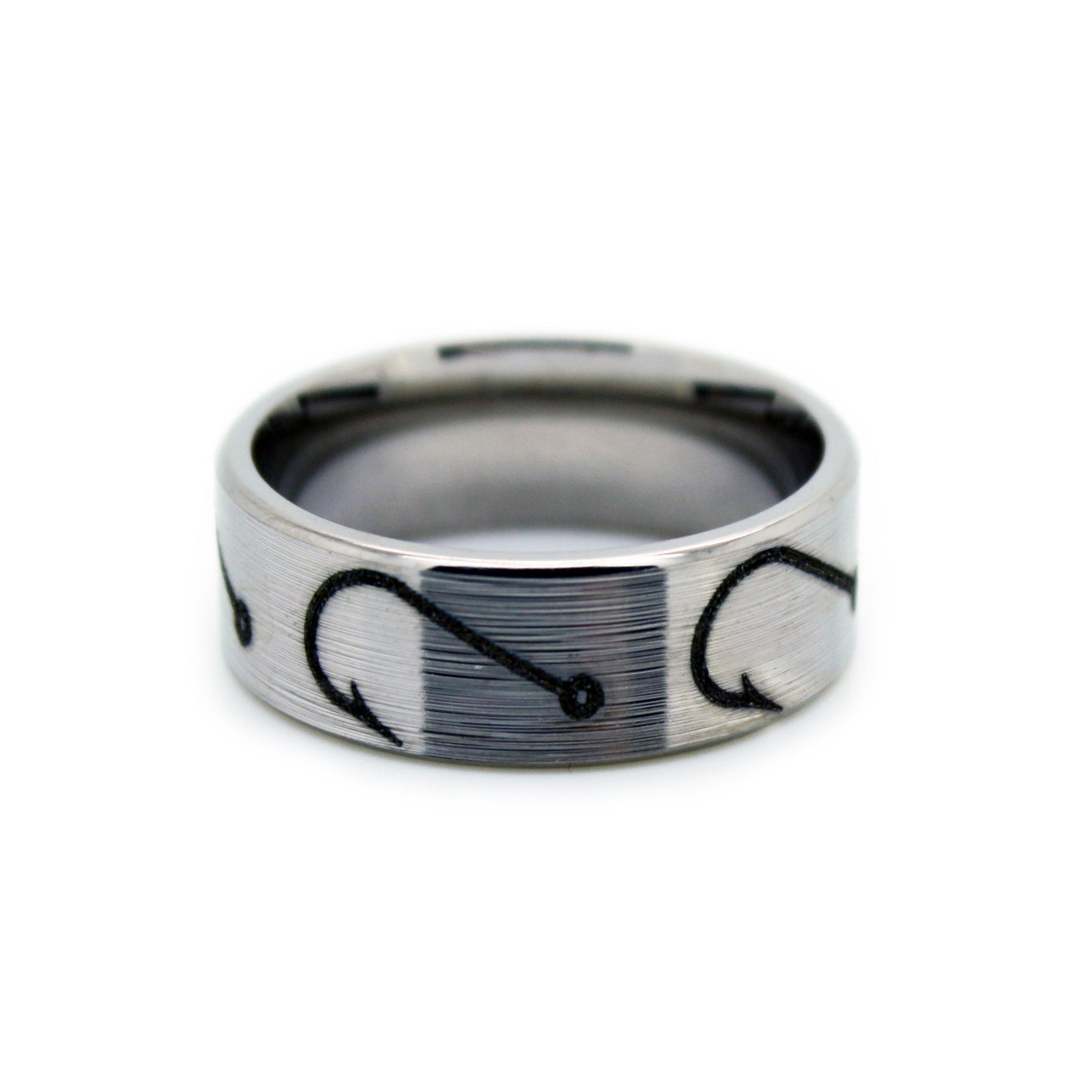 Fishing Hook Wedding Rings – Fish Hook Band by ONE CAMO