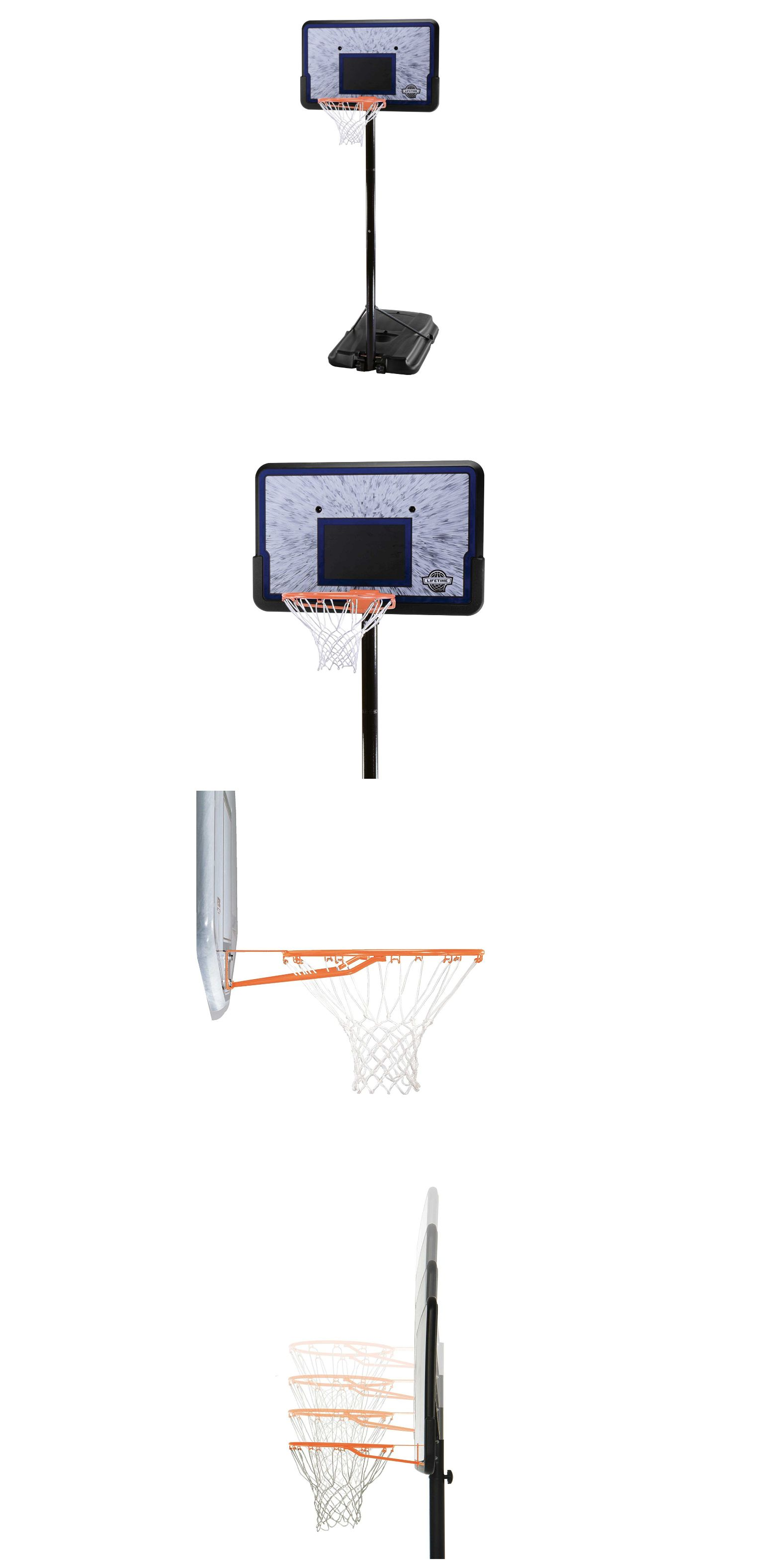 backboard systems 21196 portable lifetime basketball goal 44 youth