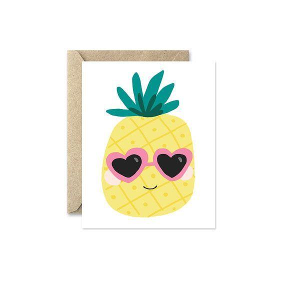 Cool Pineapple Greeting Card