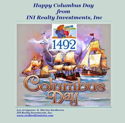 Happy Columbus Day From All Of Us At Ini Realty Investments Inc The First 100 Commission Real Estate Office With Images Happy Columbus Day Real Estate Office Investing