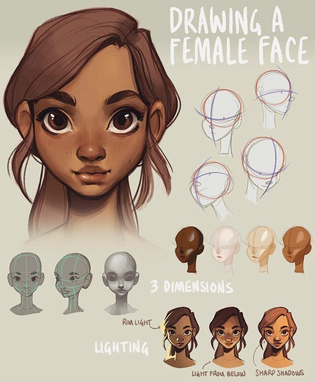 Mini tutorial on drawing a head yesterday i figured id let you guys know about this tutorial i made last year its about how to draw a female face