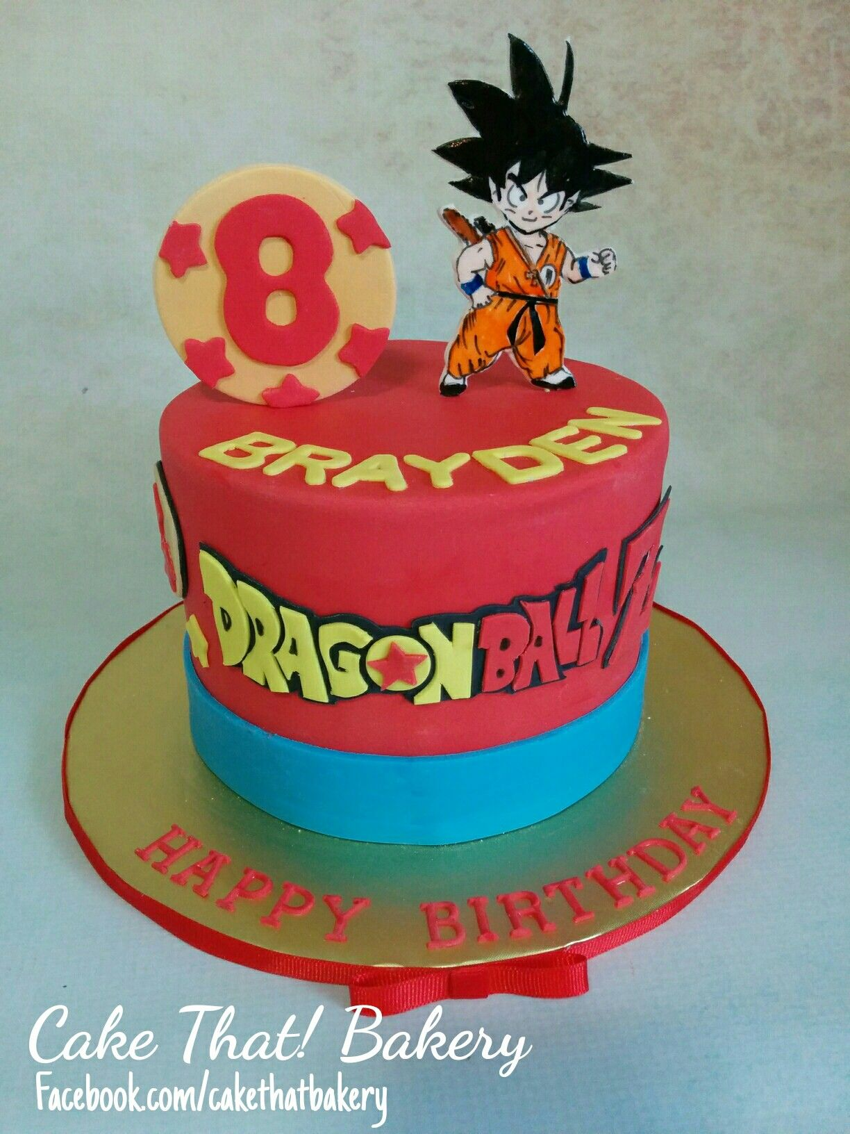 Dragonball Z Goku Birthday Cake Goku Birthday Dragon Birthday