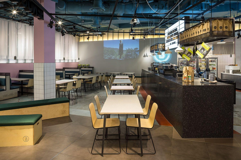 Mobili Terrazzo ~ Black terrazzo countertops for benugos pop up cafe in topshop