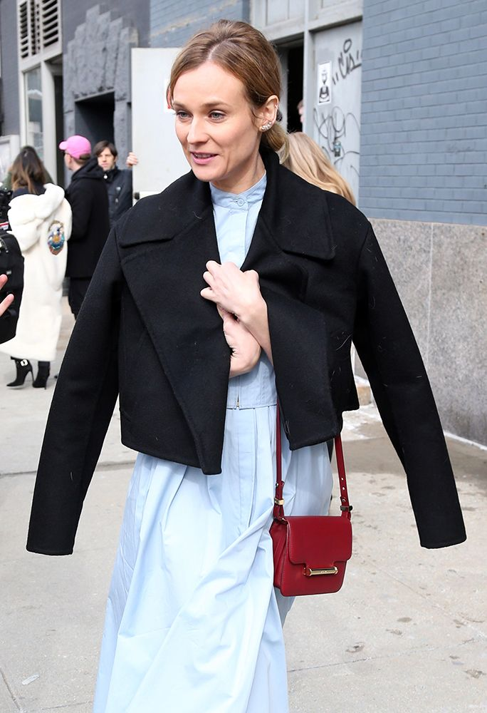 f5be47e87dc 50+ Bags on the Arms of New York Fashion Week Fall 2016's Celebrity  Attendees - PurseBlog