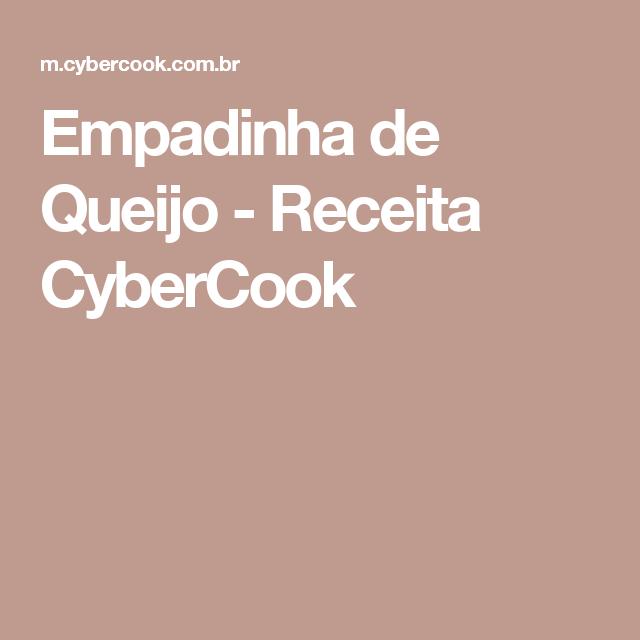 Empadinha de Queijo - Receita CyberCook