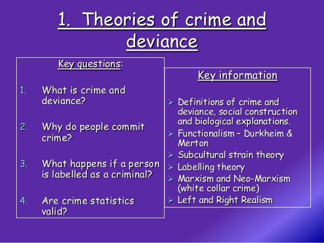 Crime And Deviance Complete Revision Negative Social