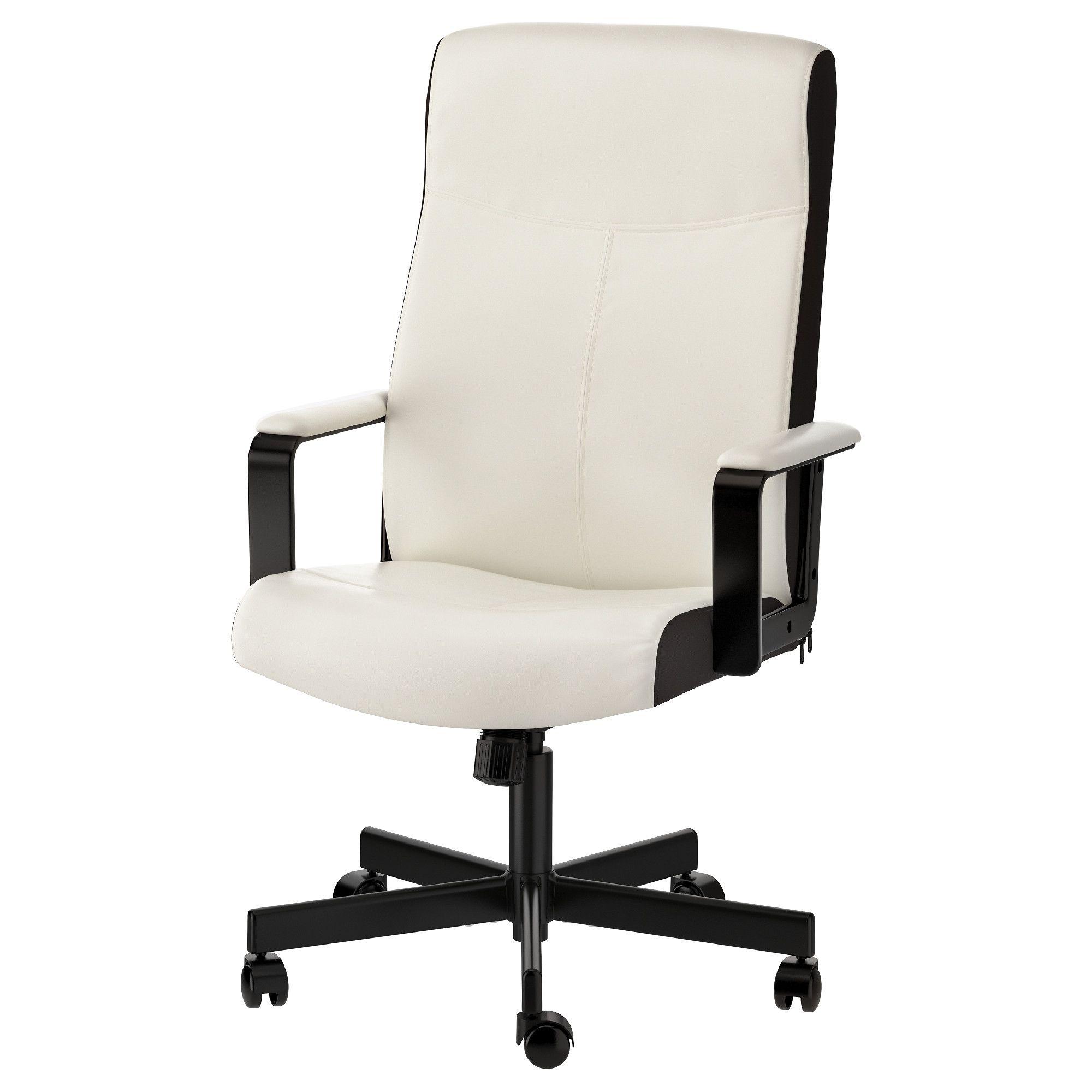 Ikea millberget swivel chair kimstad white white desk